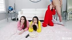Bffs Dani Damzel Dakota Burns And Natalia Nix - Stepbrother Crashes Slumber Party