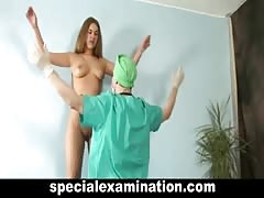 Young babe and horny doctor
