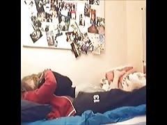 Hidden cam - Black and blonde fucking in bedroom