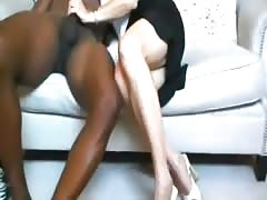 Hubby films his wife fuck black stud