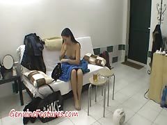 Real backstage with amazing czech brunette