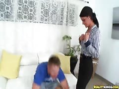 Picked up milf being fucked in her tight snatch in bedroom