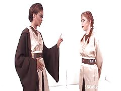 Jedi Skin Diamond shows Penny Pax the force