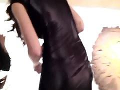 candid ass in tight wetlook hot dress      amazing ass