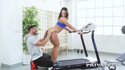 private briana banderas gym workout with big booty briana