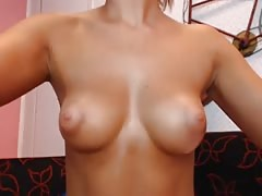 Great tits and ass on this oiled body rub girl in jeans